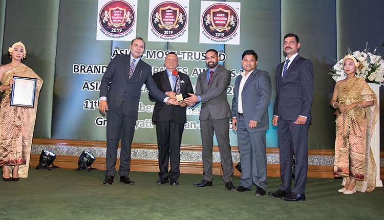 EFKON India awarded as Asia's Most Trusted Companies Award 2019